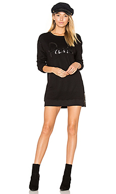 Paris Side Zip Sweatshirt en Noir