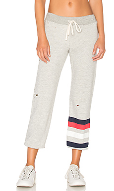 Stripes Sweatpant in Heather Grey