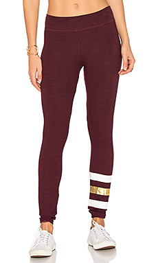 Stripes Yoga Pant en Merlot Chiné
