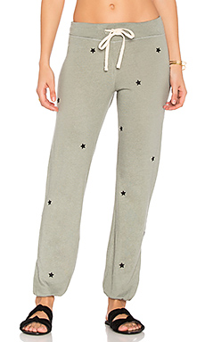 Star Patches Sweatpant en Olive
