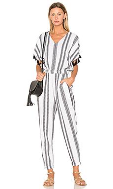 Jacquard Stripe Jumpsuit – 白色