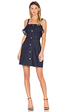 Denim Mini Dress en Indigo