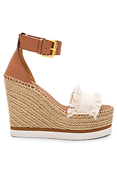 Frayed Wedge en Toile Canvas