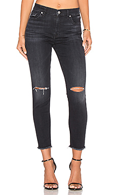 High Waist Distressed Skinny – Ashford Black