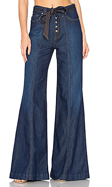 Wide Leg Lounge Pant in Luxe Lounge Deep Blue