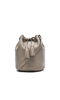 The Greta Medium Bucket Bag in Cement