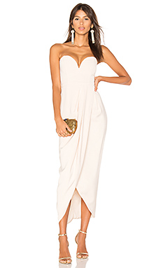 Bustier Draped Maxi Dress en Nude