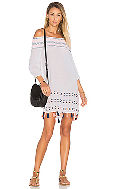 Off Shoulder Tunic en Blanc