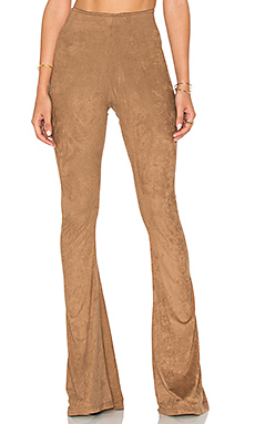 Bam Bam Bell Pants in Penny Stretch Suede