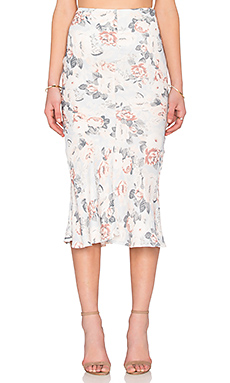 JUPE MIDI SUNDOWN FLORAL