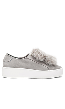 Bryanne Faux Fur Sneaker in Grey Multi