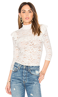 Lace Ruffle Top – 白色蕾丝