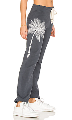 Embroidered Sweatpant in Charcoal
