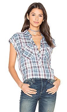 Johnesha Top en Washed Denim