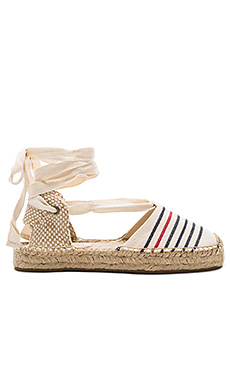 Striped Gladiator Sandal – Red Navy Natural