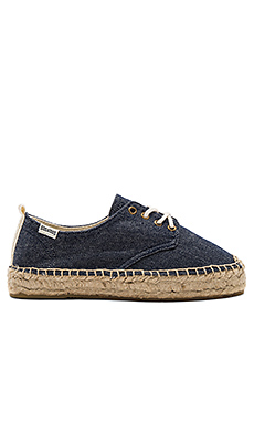 Oxford Lace Up Platform en Marine