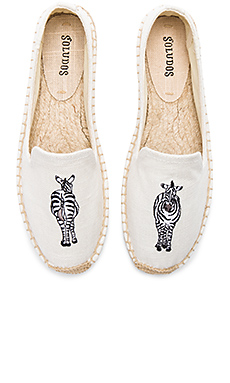 Zebra Smoking Slipper en Blanc