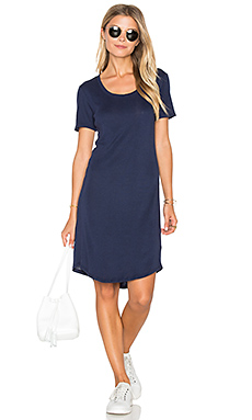 Codette Mini Variegated Rib Stripe T Shirt Mini Dress – Academy Navy