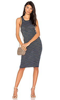Stripe Rib Knit Tank Dress en Marine