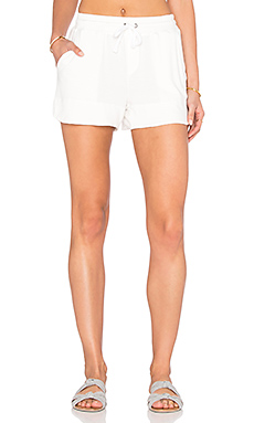 Cozy Modal French Terry Short en Blanc