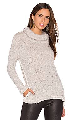 Double Face Loose Knit Pullover en Lin