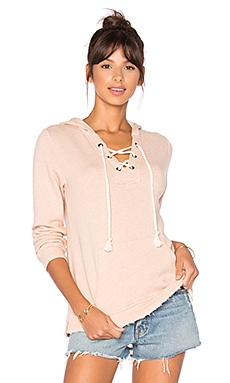 Active Lace Up Hoodie en Pink Beige