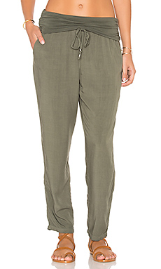 Fold Over Pant in Military Olive