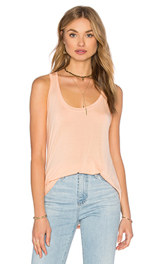 Yuma Garment Dye Jersey Tank in Soft Peach