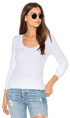 Nordic Thermal Long Sleeve Scoop Tee en Blanc
