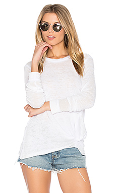 Burnout French Terry Sweatshirt en Blanc