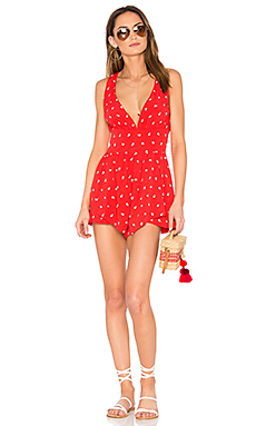 Shadow Spot Playsuit en Imprimé