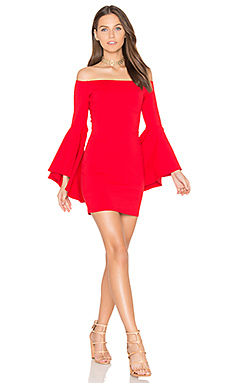 Off Shoulder Dress in Perfect Red