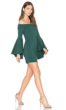 Off Shoulder Dress in Vert