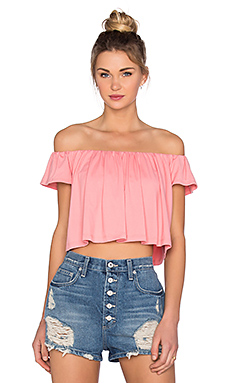 Off the Shoulder Crop Top en Sorbet