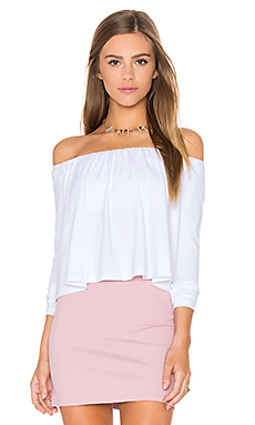 Molly Off the Shoulder Top en Sugar