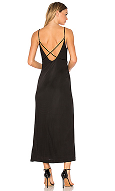 Interlock Criss Cross Strap Dress in Black