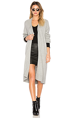Cashwool Bathrobe Cardigan in Heather Grey