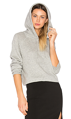 Cashwool Raglan Hoodie in Heather Grey