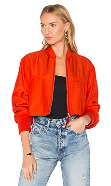 Crop Bomber Jacket – 绯红