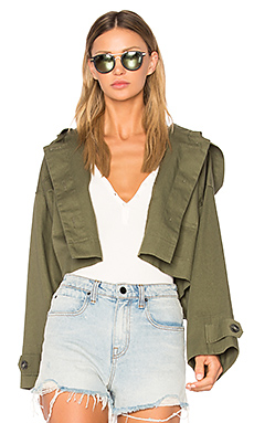 Crop Hooded Jacket en Surplus
