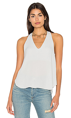 Owen V Racerback Top in Silver