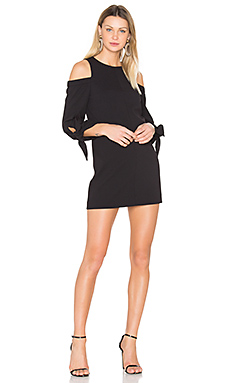 Shoulder Tie Sleeve Dress en Noir