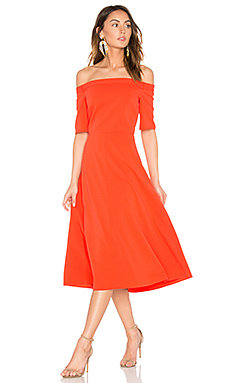 Elbow Sleeve Dress – Vermillion Red
