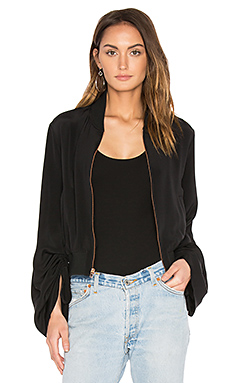 Sculpted Bomber Jacket en Noir