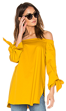 Off The Shoulder Tunic in Sinapis Yellow
