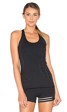 Patchwork Jacquard Tank in Black