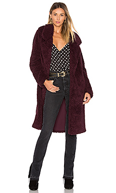 MANTEAU LONG VIOLET