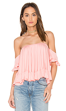 Evelyn Top en Corail Clair