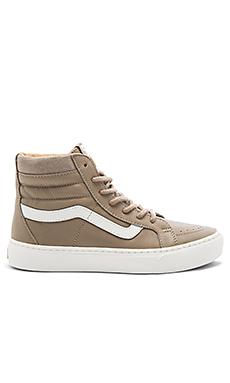 SK8-HI Cup Sneaker en Desert Taupe & Blanc De Blanc