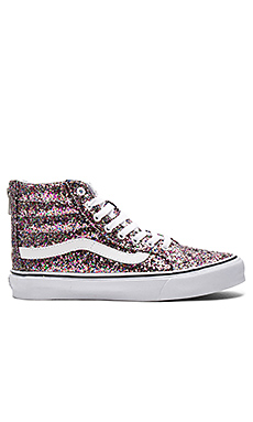 SK8-HI Slim Zip Sneaker in True Glitter